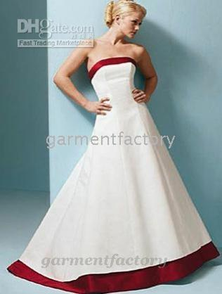 wedding dress with red trim buy cheap wedding dress with red trim