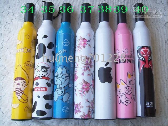 mini folding umbrella - hot sell Bottle Umbrellas FASHION WINE BOTTLE STYLE FOLDING UMBRELLA MINI FLOWER huimeng
