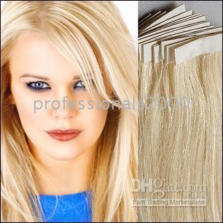 Wholesale Sets of quot REMY Tape Skin Hair Extension amp g Human Hair Extensions c05