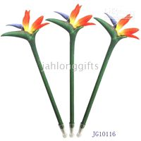 Wholesale Promotion Product Hand Made Polymer Clay Craneflower Ball Pens Garden Stake Corporate Gift