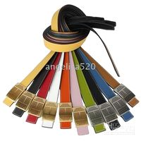 Wholesale Lychee leather belt strap with gold silver buckle