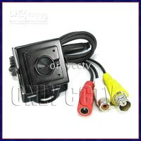 Wholesale Mini Pinhole Sony CCD CCTV Camera W Mic TVL