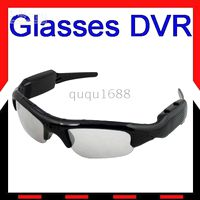 Wholesale Free Ship Mini DV DVR Spy Sunglasses Camera Audio Video Recorder