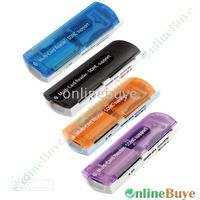 Wholesale Mini USB Computer Memory Card Reader with Multi function Black Blue Orange Purple