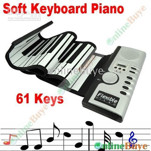 Wholesale 61 keys Roll up Soft Digital Electronic SOFT KEYBOARD PIANO with MIDI port