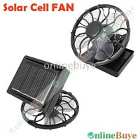Wholesale 1pcs Mini Solar Cell Fan Sun Power energy Clip on Cooling Promotion