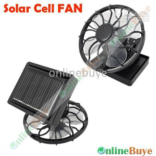 promotion fan - 1pcs Mini Solar Cell Fan Sun Power energy Clip on Cooling Promotion