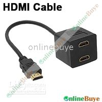 Wholesale 1pcs HDMI Male To x HDMI Female Splitter Adapter Cable