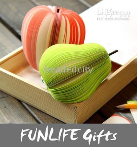 Wholesale funlife Novelty back to School g Paper Wood Carpopodium Fruit Note Memo Pad Dairy Book
