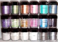 Wholesale new g glitter pigment eye shadow with english colors new in box colors