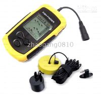 Electronic LCD Sonar fish detector Portable Fish Finder uniq...