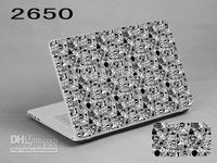 Wholesale Removable laptop Skin black and white style for notebook Protective Stickers