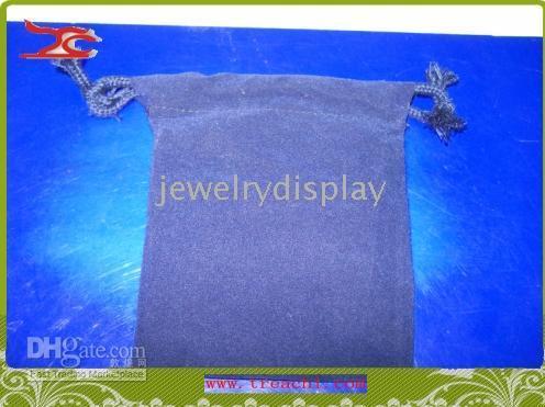 Wholesale 10 X dark brue Gift Drawstring Velvet Pouch X12CM