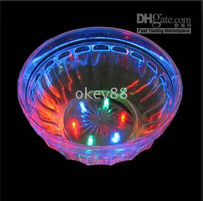 Wholesale 2015 New and Fashion light up plastic led bowl with multicolor Christmas gifts Flashing Bowl factory sales