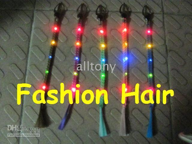 Wholesale fashion hair lites led Hi intensity flashing super Brite bulbs clubbing jewellery on Christmas