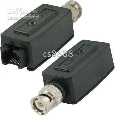 Wholesale New One Pair Passive Video Balun CCTV Network UTP BNC Male Transmitting a Full Motion Video Signal