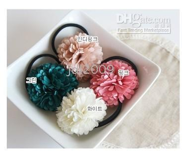 Wholesale Fashion Jewelry Lace flowers Hair accessories Hair omaments barrette Hairin with Chrysanthemum Fashion headband Mix Color
