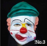 Wholesale Funny Halloween clown costumes mask high grade latex clown mask Scream mask Christmas gift