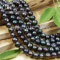 Wholesale 8mm Black Freshwater Pearl Loose Beads