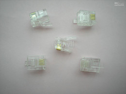 Water Clear Modular Plug Telephone Net LAN Connector CAT 3 RJ11 6P4C 100 pcs per lot Hot Sale