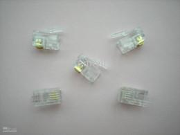 Modular Plug Telephone Net LAN Connector CAT 3 RJ11 4P4C 100 pcs per lot In Stock