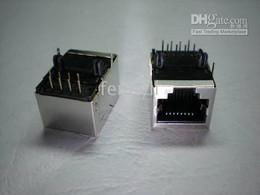 10 Pcs RJ45 Modular Network PCB Jack 59 8P Side entry LAN Connector Shielded