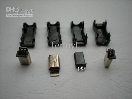 Wholesale 10 Pin Mini USB Plug Male Socket Connector Plastic per Hot Sale