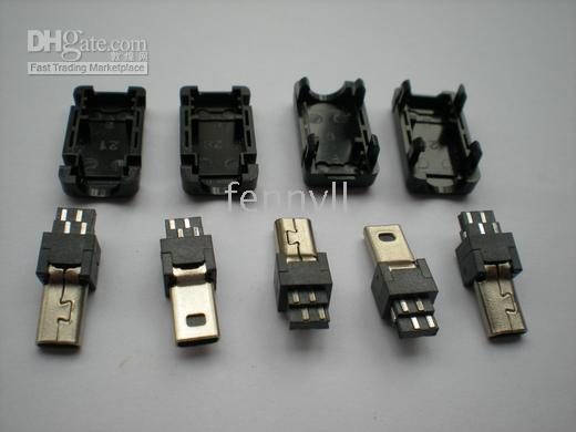 Wholesale Mini USB Pin Male Socket Connector Plastic per Hot Sale