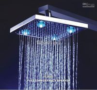 Wholesale LED Faucet Shower Faucet Antique Shower Faucet Inch Chrome Brass Shower Head With LED Lights