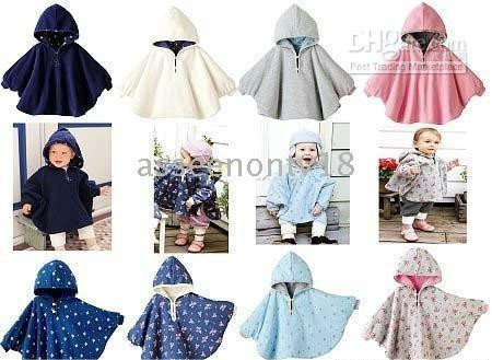 Wholesale COMBI double side cloak Baby ourterwear coats girls cape sweaters outfits baby dress smock Wraps