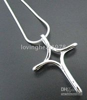 Wholesale Hot selling silver cross pendant gorgeous Necklaces