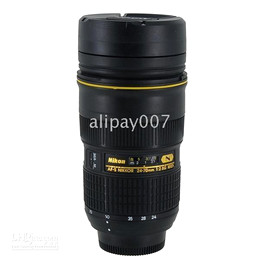 1pcs Nikon Lens AF-S 24-70mm F 2.8 Thermos Mug Cup D300 D700 shop to Worldwide