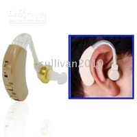 Wholesale 2 Behind the Ear Sound Amplifier Deaf Hearing Aid assistance