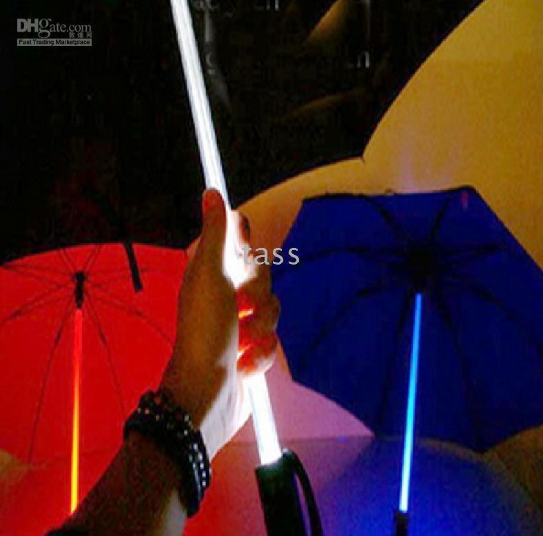 Wholesale LED Flashing Umbrella with Flashlight in Handle