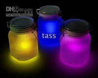 Wholesale Christmas Gift Sun Jar LED Night Light Solar Powered Lamp