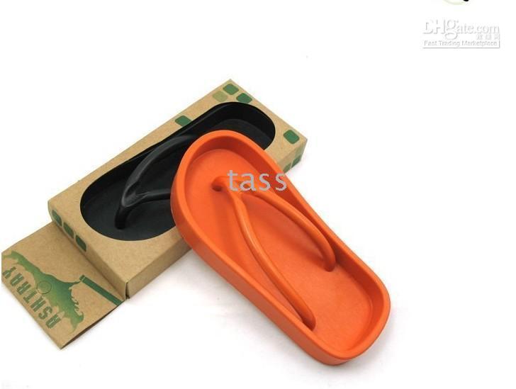 Cinzeiro, sandália do deslizador da forma sapatos --50pcs cigarro cinzeiro fumar novidade Rubber Red Shoe +