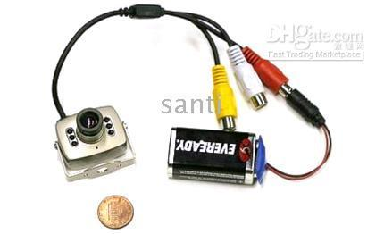 audio leds - Mini Cmos camera IR CCTV Color Video Audio with Leds mic security surveillace pc pc