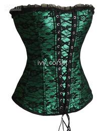 SEXY green Gorgeous CORSET 1162 Size S M L XL 2XL Mix sell