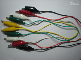 Wholesale 35mm Alligator Test Clip Lead colors cm set per Hot Sale