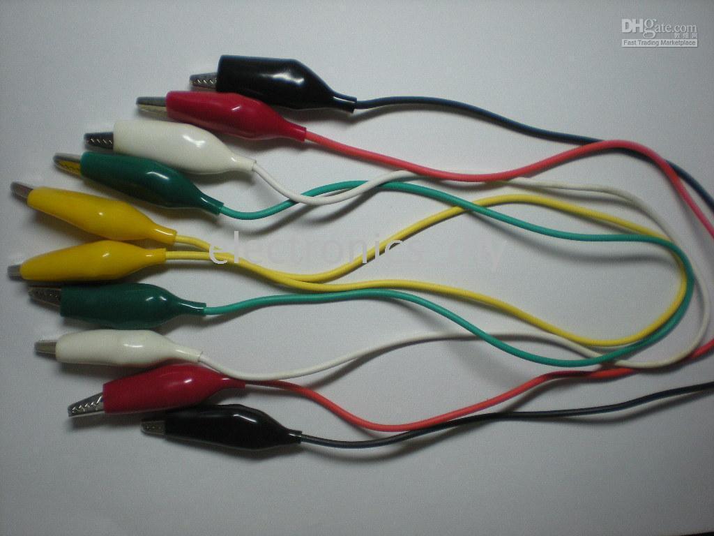 Wholesale 35mm Alligator Test Clip Lead colors cm set per Hot Sale