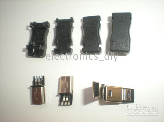 al por mayor conector de enchufe macho usb-Mini USB Plug Macho 5 Pin 8 Pin 10 Pin Socket Conector de plástico 20 PC por la porción