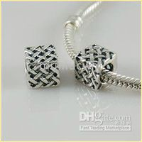 Wholesale High quality HOT sterling silver Big Hole Beads Fit Bracelets Mixed