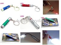 Wholesale 2 In laserpointer amp Super Bright LED Flashlight Key ring