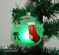 Wholesale 72PC LED FAIRY TREE BALL LIGHT D70MM GLASS CHRISTMAS HOLIDAY PARTY SCENERY DECORATION ORNAMENT