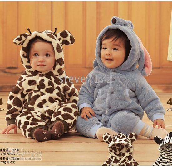 Coverall for Winter Winter baby rompers onesies jumpsuits pajamas sleeping bag shirts animal custome outfits bodysuits TZ341