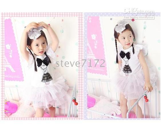 100% Cotton magic cube - MAGIC CUBE dress girls dresses baby skirts petticoats one piece dresses TUTU skirts garments CL776