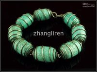 Wholesale Lowest price gt Mix order Gem Brand new Jewelry with green Drum shape Turquoise