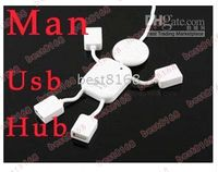 Wholesale 4 Port usb Hub USB High Speed Man Cable Adapter For PC laptop