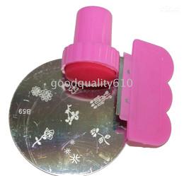 1 Set Stamping Nail Art Stamp & Scraper Free ship