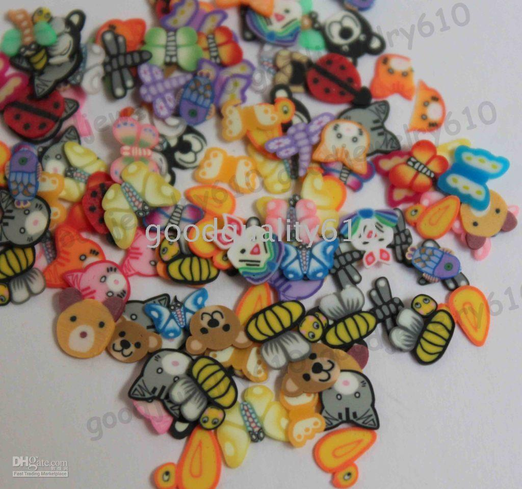 Wholesale 500X D Animal Nail Art Fimo Slices Scrapbooking Slices